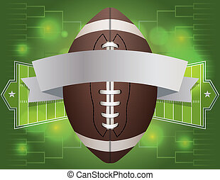 American Football Banner Illustration - An american football...