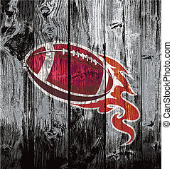 american football black woodboard