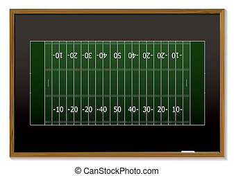 american football blackboard - American football field with...