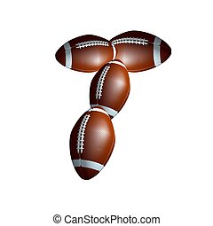 american football capital letter T