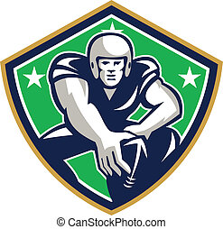 American Football Center Snap Front Shield - Illustration of...