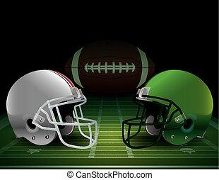 American Football Championship - American football field,...