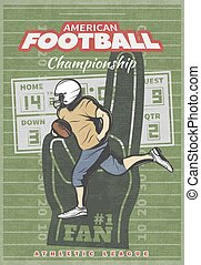 American Football Championship Poster