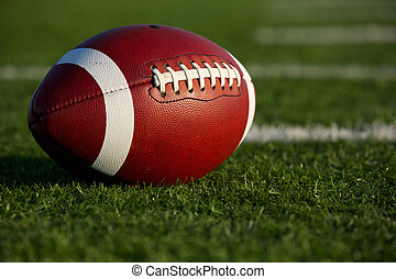 American Football Close Up