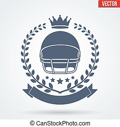 American Football Club Badge and Label