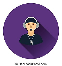 American football coach icon