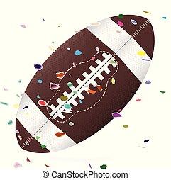 American Football Confetti