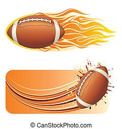 american football design element
