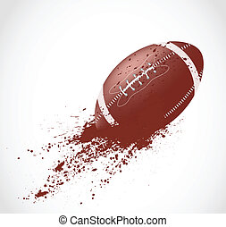 American football design in grunge style. This is file of...