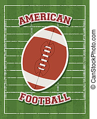 american football design over field background vector...