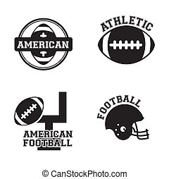 American football design over white background, vector...