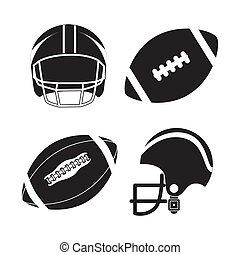 american football design over white background vector...