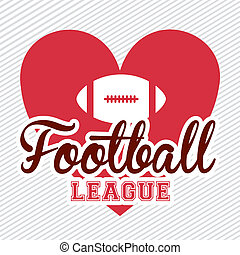 American football design over white background,vector...
