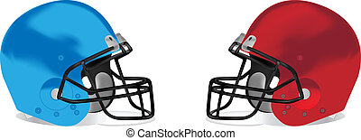 American football detail helmet vec