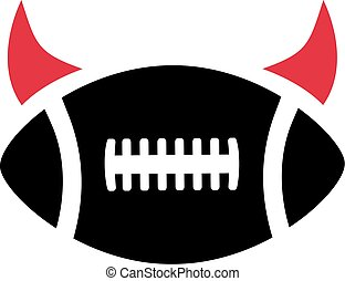 American Football Devil horns