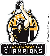American Football Divisional Champions Retro - Illustration ...