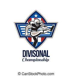 American Football Divisional Championship - Illustration of ...