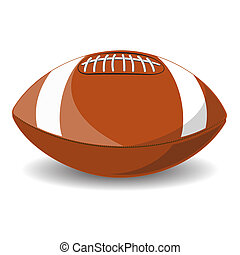 American Football. Isolated on white background. Vector...