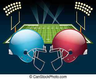 American Football - Vector illustration of american football...