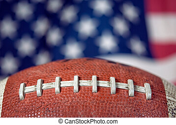 American Football - Extreme football with an American flag...