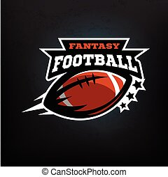 American football fantasy logo emblem. Vector illustration.