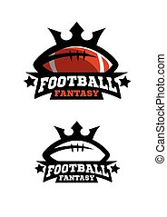 American football fantsy. Two options color and monochrome logo.