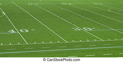 American Football Field Abstract - A stadium view of an...