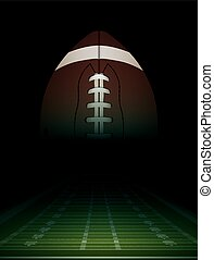 American Football Field and Ball Illustration - American...