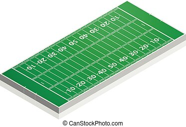 American Football Field - detailed illustration of a...
