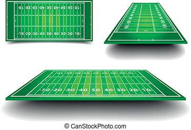 American Football Field - detailed illustration of American...