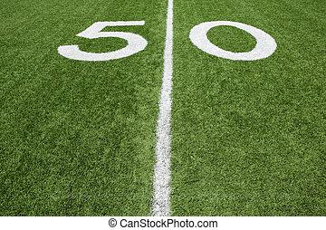 American Football Field Fifty Yard Line - Fifty Yard Line