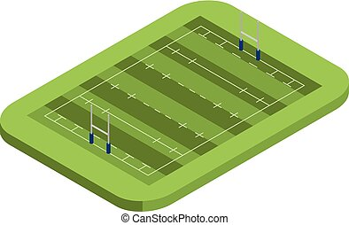 American football field icon, isometric style