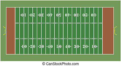 American Football field - Illustration of an American...