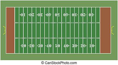 American Football field - Illustration of an American...