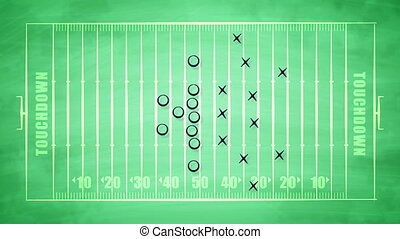 """American football field plan for attack"" - ""A striking 3d ..."