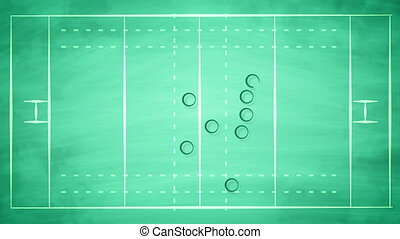 """American football field scheme for players"" - ""An..."