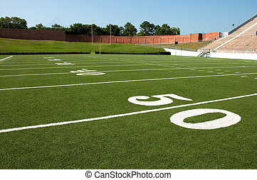 American Football Field - American football field with goal...
