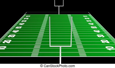 American Football Field - 3d American Football Field