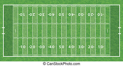 American Football Field with Line and Grass Texture, vector...