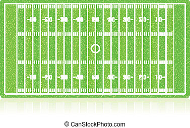 American football field with grass (noise) texture. Vector...