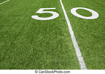 American Football Fifty Yard Line with room for copy