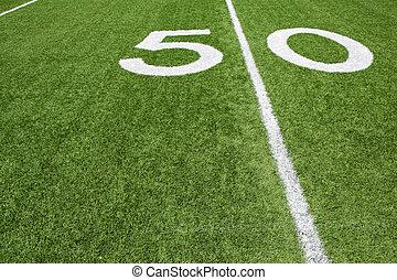 American Football Fifty Yard Line