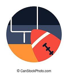 American football flat illustration