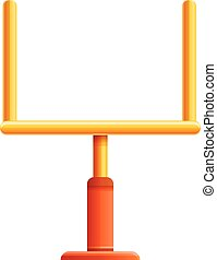 American football gate icon, cartoon style