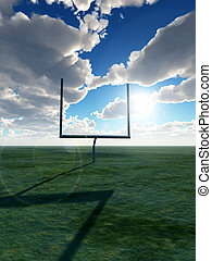 American Football Goal - An American football post on a...