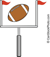 American Football Goal Cartoon Character