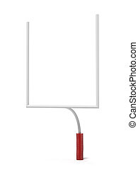 American Football Goal Posts isolated on a white background....
