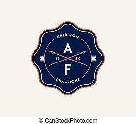 American football gridiron badge