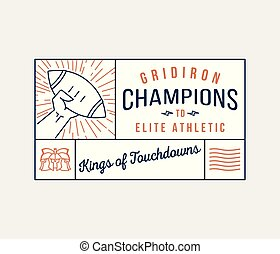 American football gridiron champions badge