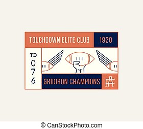 American football gridiron champions